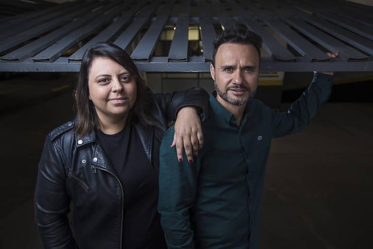 Samantha Barbieri, 36, e Michele d'Ippolito, 42, sócios e fundadores da Unpark, em São Paulo