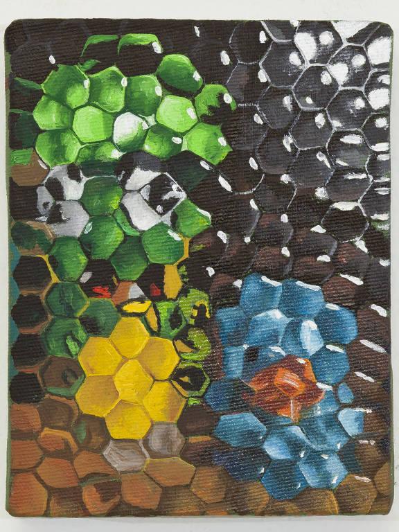 Obra da série 'Brinquedos 1' (pintura a óleo), de Ana Elisa Egreja