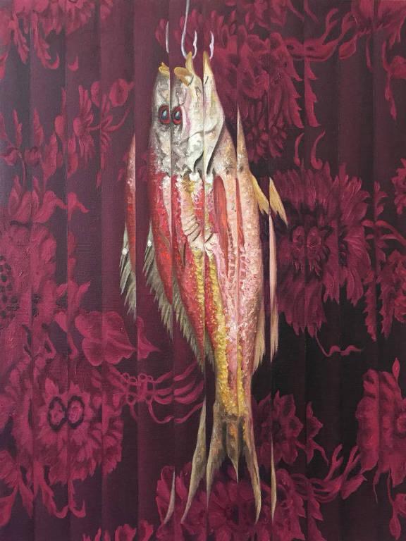 """Obra 'Natureza Morta com Peixe"""" (2017), de Ana Elisa Egreja"""
