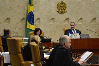 Sessão plenária no STF (Supremo Tribunal Federal), em Brasília