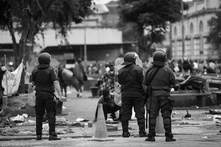Operação da polícia paulista contra o tráfico na cracolândia, no centro de São Paulo