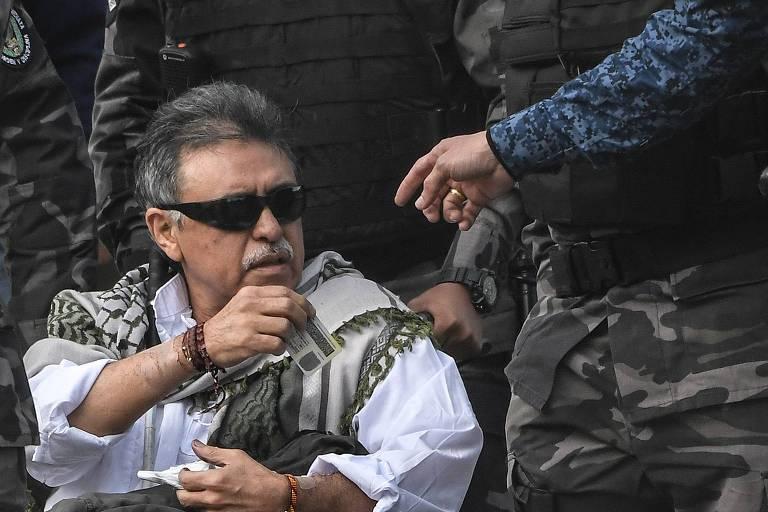 O líder guerrilheiro das Farc Jesús Santrich