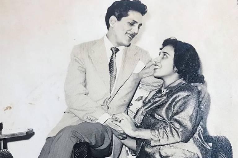 Arlete Salles e Lúcio Mauro jovens