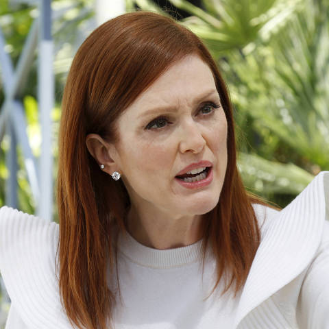 72nd Cannes Film Festival - The Mastercard Conversation - Cannes, France, May 15, 2019. Julianne Moore speaks after a photocall. REUTERS/Regis Duvignau ORG XMIT: ANT246