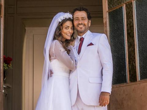 Maria Da Paz ( Juliane Paes ) e Amadeu ( Marcos Palmeira ) em 'A Dona do Pedaço'