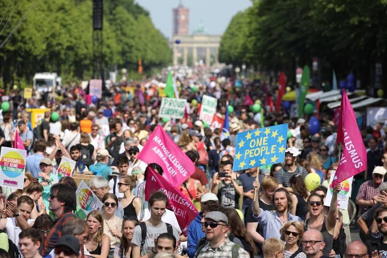 Ato contra o nacionalismo na Alemanha em 2019