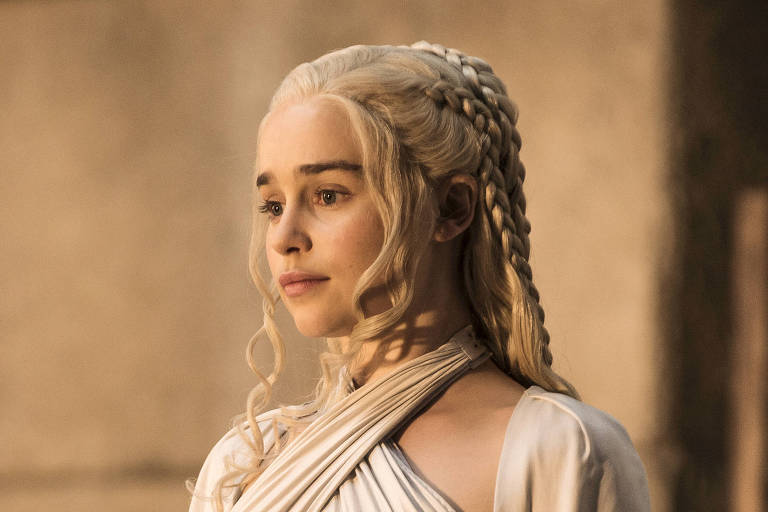 "Emilia Clarke na 5ª temporada de ""Game of Thrones"", da HBO"