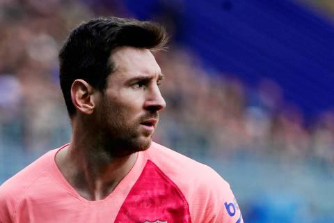 Soccer Football - La Liga Santander - Eibar v FC Barcelona - Ipurua, Eibar, Spain - May 19, 2019   Barcelona's Lionel Messi    REUTERS/Vincent West ORG XMIT: AI