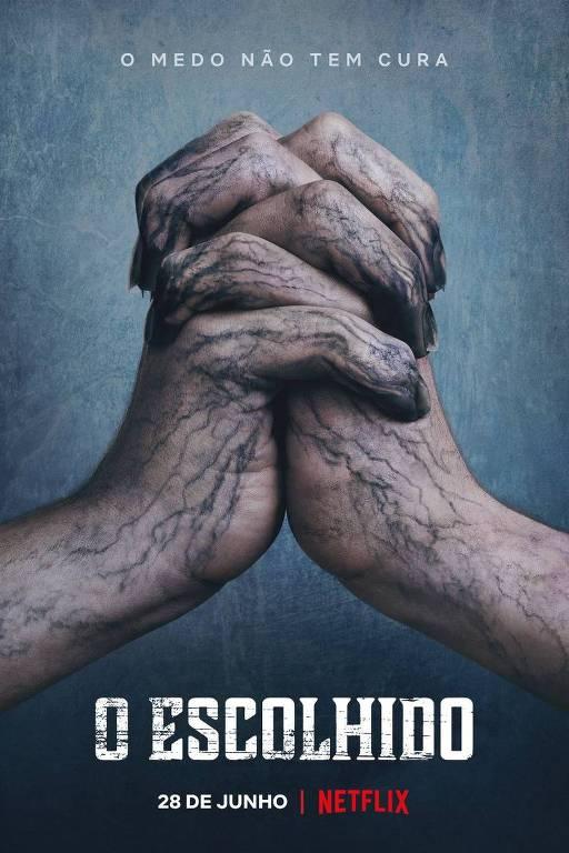 duas mãos contaminadas unidas