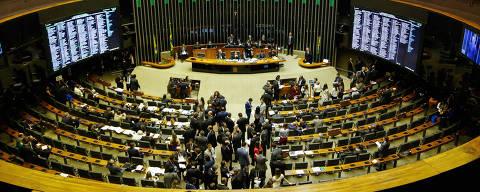 BRASÍLIA, DF, 20.02.2018  - SESSÃO CONGRESSO NACIONAL, CÂMARA E SENADO - Plenário da câmara dos deputados durante sessão conjunta entre câmara e senado. Nesta terça-feira(20), em Brasília. - (Foto: WALTERSON ROSA/FRAMEPHOTO/FRAMEPHOTO/Folhapress) ***PARCEIRO FOLHAPRESS - FOTO COM CUSTO EXTRA E CRÉDITOS OBRIGATÓRIOS***