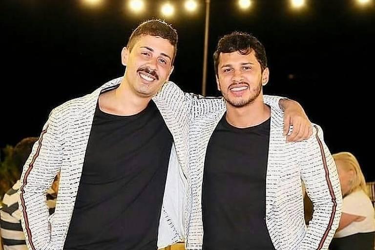 Carlinhos Maia e Lucas Guimarães no jantar pré-casamento