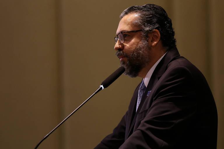 Chanceler Ernesto Araújo (MRE), durante cerimônia de formatura da turma do Instituto Rio Branco
