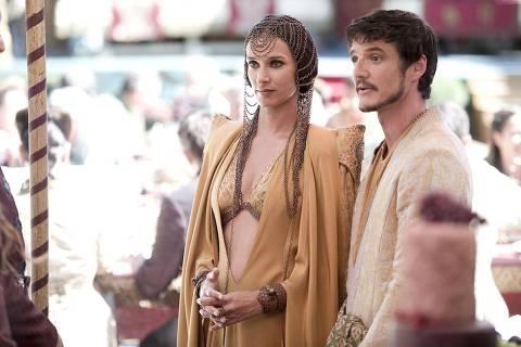 Ellaria Sand e Oberyn Martell, de Dorne, em 'Game of Thrones'