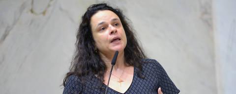 SAO PAULO,SP 29/04/2019 - A deputada Janaina Paschoal (PSL) comentou as declarações que teriam sido feitas pelo presidente da República sobre o Brasil não poder ser
