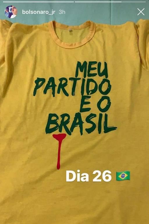Jair Renan, quarto filho do presidente Bolsonaro, defende protesto no domingo (26) em apoio ao seu pai