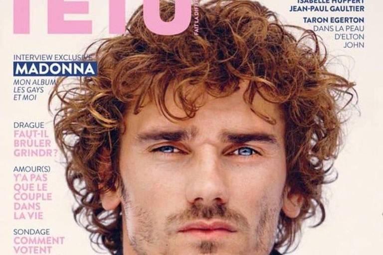 Griezmann na capa da revista Têtu