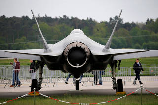 FILE PHOTO: FILE PHOTO: A Lockheed Martin F-35 aircraft is seen at the ILA Air Show in Berlin