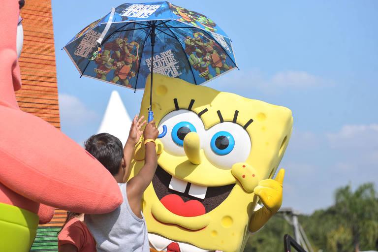 Dia de Brincar Nickelodeon, realizado no parque Villa Lobos