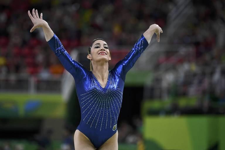 Daniele Hypólito durante apresentação na Olimpíada do Rio, em 2016