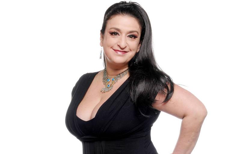 A atriz Grace Gianoukas, sucesso no teatro e na TV