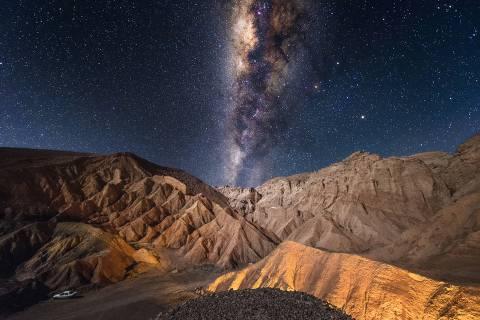 Milky Way over the Valley of Death,, San Pedro de Atacama, Chile.   Foto: Biosphoto / Alberto Ghizzi Panizza / AFP ORG XMIT: 2100067