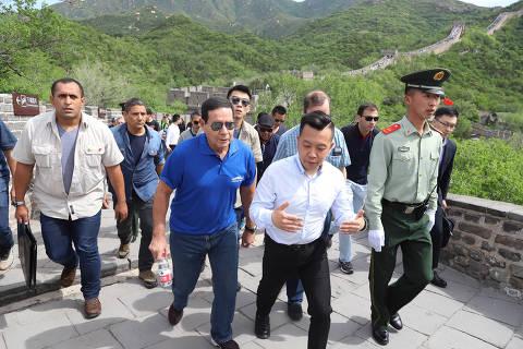 ( Pequim - China, 22/05/2019) Vice-Presidente da República, Hamilton Mourão, durante visita  à  Grande Muralha da China.                                                                                Foto: Adnilton Farias / VPR
