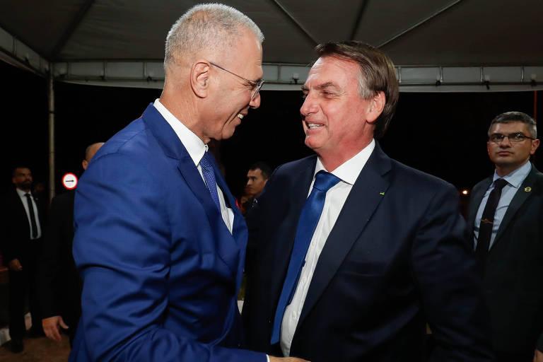 O presidente Jair Bolsonaro (PSL) durante cerimônia de celebração do 71º aniversário de criação do Estado de Israel