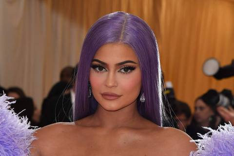 """Kylie Jenner arrives for the 2019 Met Gala at the Metropolitan Museum of Art on May 6, 2019, in New York. - The Gala raises money for the Metropolitan Museum of Art's Costume Institute. The Gala's 2019 theme is """"Camp: Notes on Fashion"""