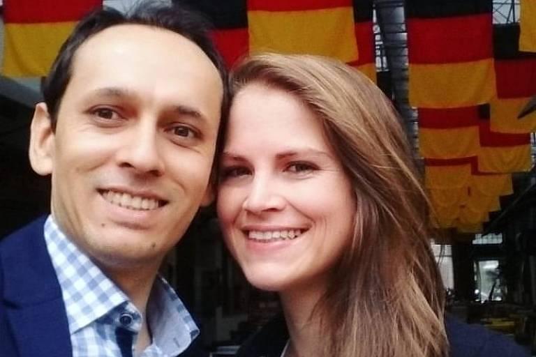 Jonathas Kruger e Adriane Krueger, casal que morreu em vazamento de gás no Chile