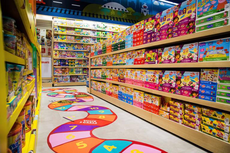 Nova e maior loja de brinquedos da Ri Happy que fica no shopping Cidade de São Paulo, na avenida Paulista