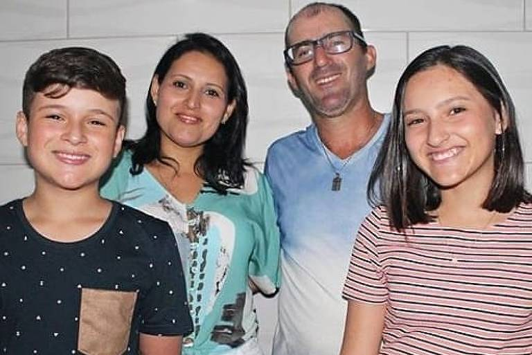 Da esq. p/ a dir.: Felipe, Débora Muniz, Fabiano e Karoliny de Souza, que morreram após vazamento de gás no Chile