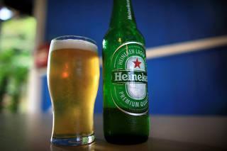 FILE PHOTO: Illustration photo of Heineken lager beer in Singapore