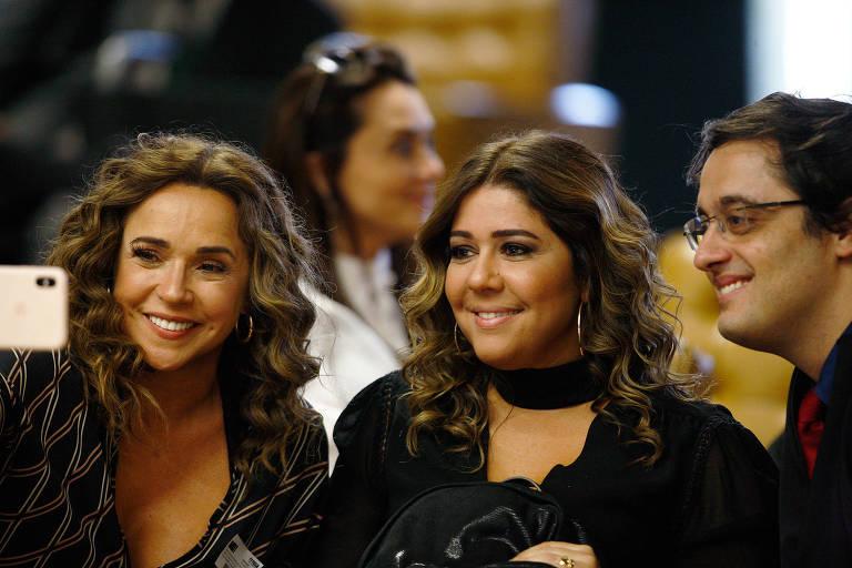 A cantora Daniela Mercury (esquerda), durante julgamento no STF sobre a criminalização da homofobia
