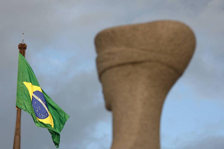 Estátua da Justiça em frente ao Supremo Tribunal Federal, em Brasília