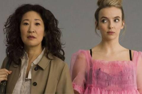 'Para mim, um spoiler torna o programa mais divertido'; acima, Sandra Oh e Jodie Comer, de 'Killing Eve'