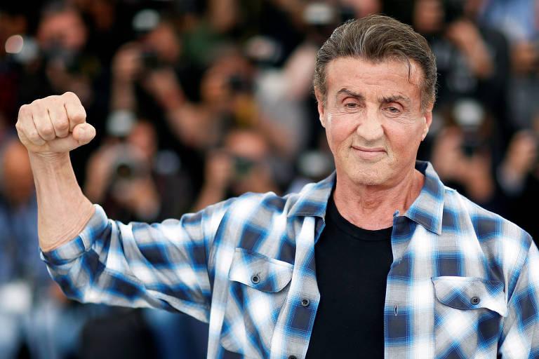 O ator Sylvester Stallone durante o festival de Cannes