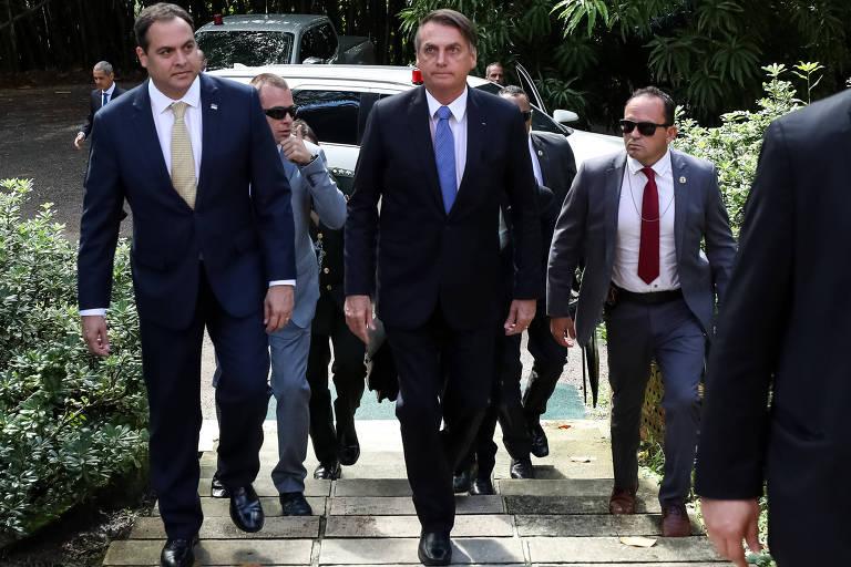 Presidente da República, Jair Bolsonaro, durante visita ao Castelo São João