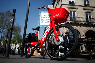 Uber Technologies Inc. Jump bicycle stands in Paris
