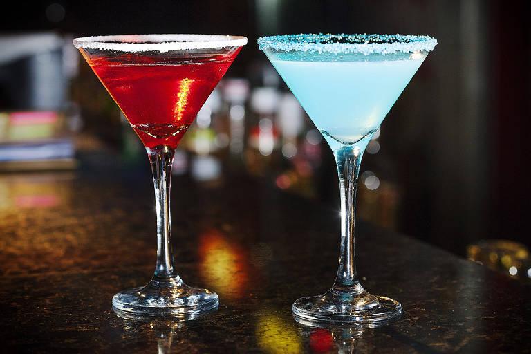 Drinques servidos no Season One Geek Bar no dia do Orgulho Nerd