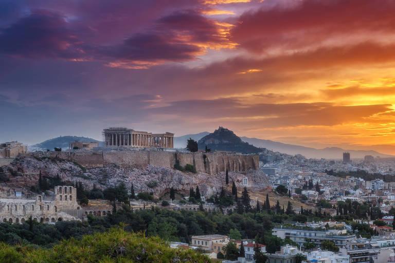 Ruínas do Partenon, em Atenas, na Grécia