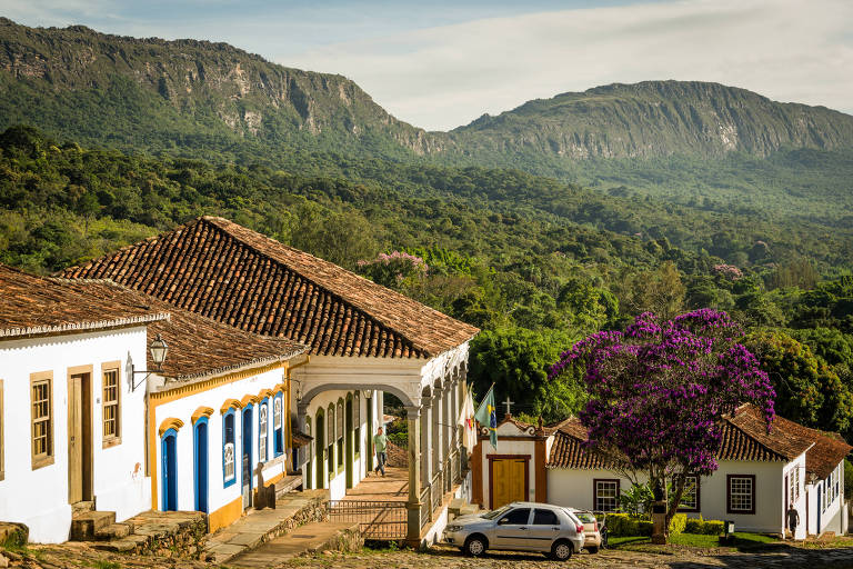 Vista da serra de São José da cidade de Tiradentes