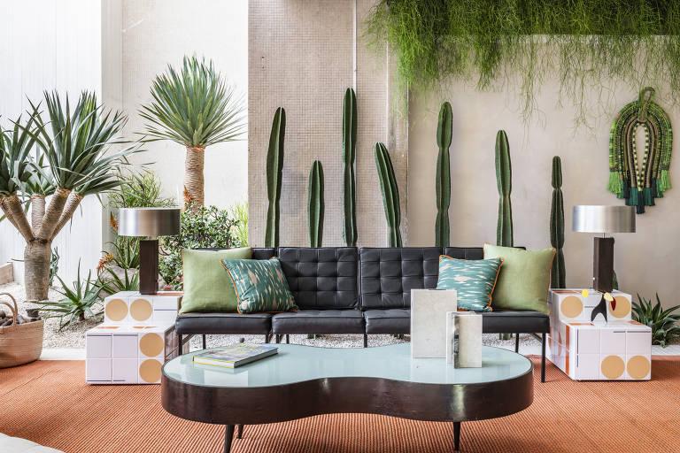 """Ambiente """"Varanda Palm Springs"""", do arquiteto Jean de Just, na Casacor 2019"""