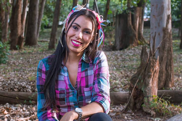 Viviane Santos Gama é viciada em festa junina e não perde uma folia