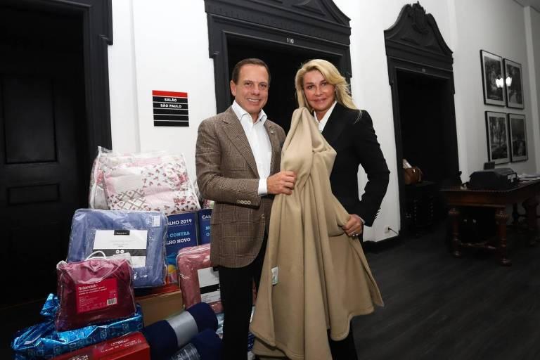 Doria convocou secretariado para doar cobertores novos à campanha do agasalho