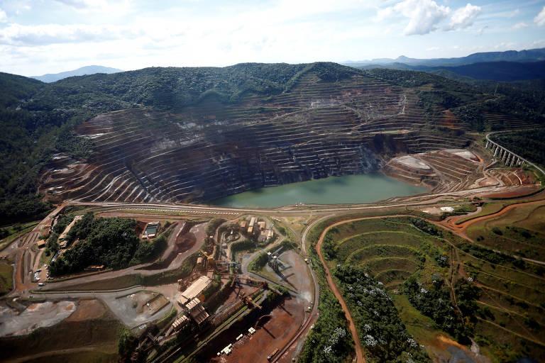 A barragem da mina Gongo Soco, da Vale, em Barão de Cocais (MG)