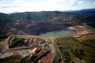 A view of the dam at Brazilian miner Vale's Gongo Soco mine is seen in Barao de Cocais