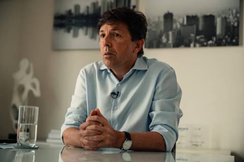 São Paulo, SP, Brasil, 22-05-2019: João Amoêdo, candidato à presidência em 2018 pelo Partido Novo. (foto Gabriel Cabral/Folhapress)