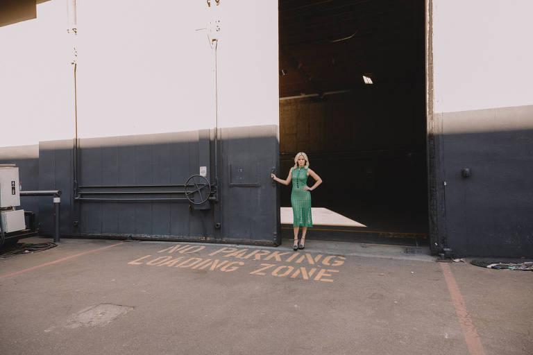 A empresária, diretora e atriz Elizabeth Banks nos estúdios da Universal, em Los Angeles