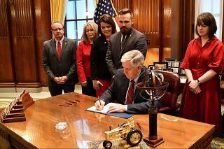 Missouri Governor Mike Parson signs Bill 126 into law in Jefferson City
