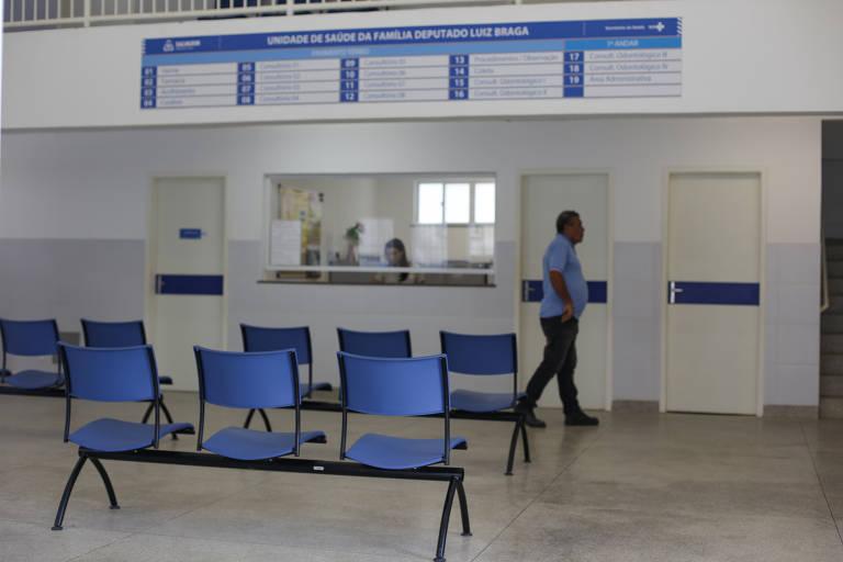 Recepção do posto de saúde em Pirajá